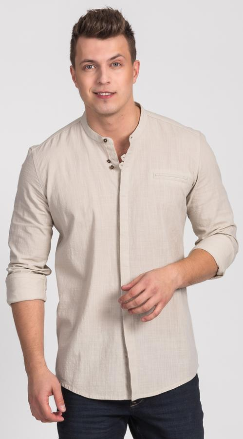 Koszule męskie ze stójką Repablo